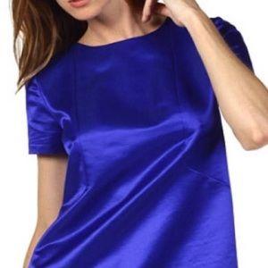"Kate Spade ""Martine"" Blue Cotton Silk Top 4"